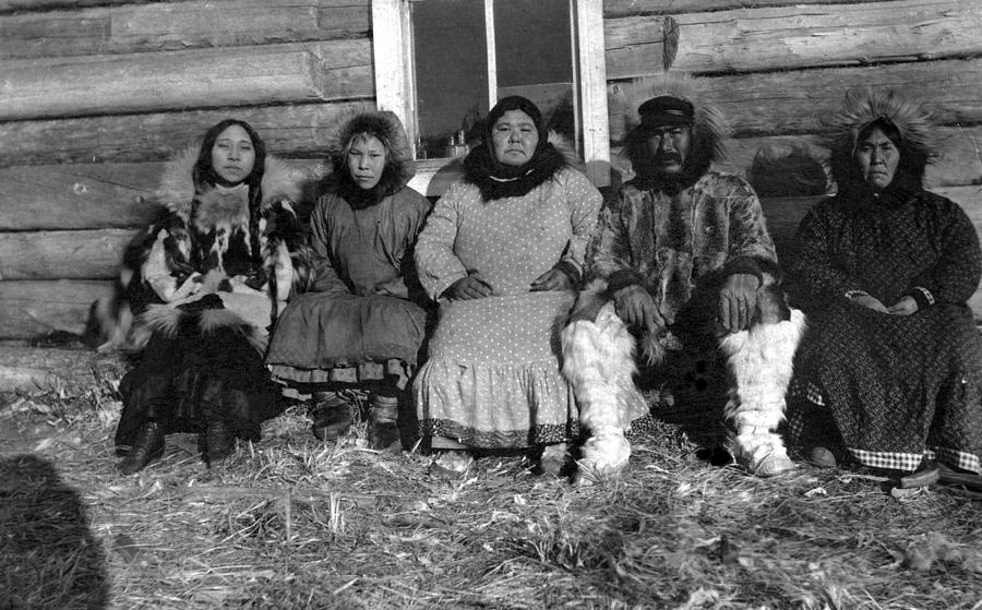 20th Century Photograph - Alaska Eskimo Family by Granger