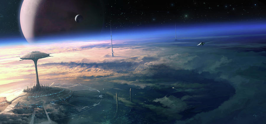 Spacecraft Photograph - Alien Civilisation by Gary Tonge / Science Photo Library