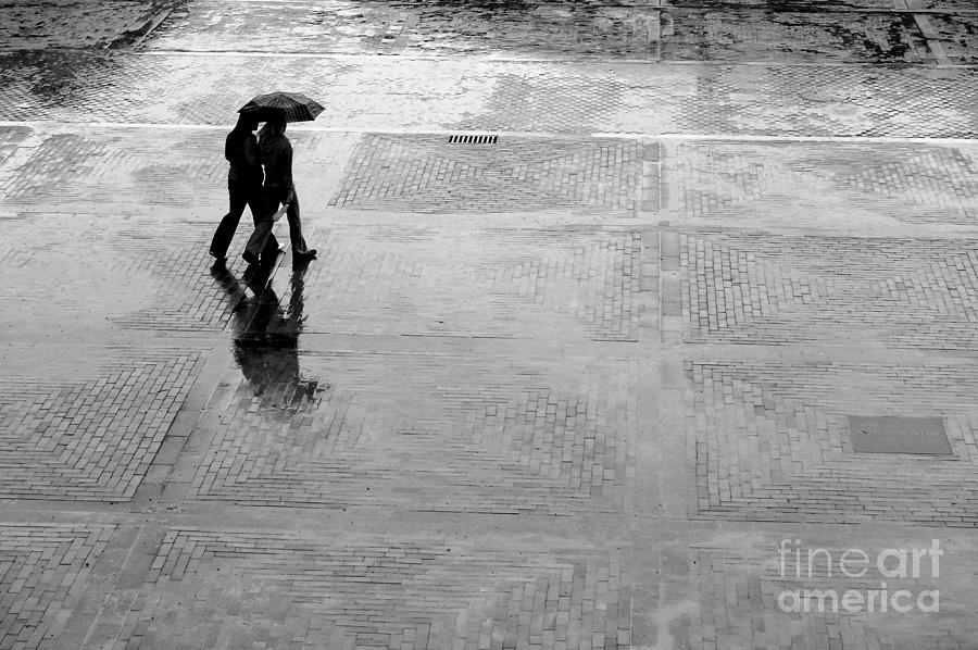 Adult Photograph - Alone In The Rain by Michal Bednarek