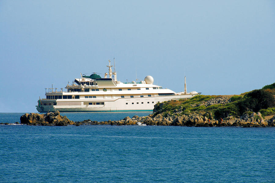Port Photograph - Antibes - Superyachts Of Billionaires by Christine Till