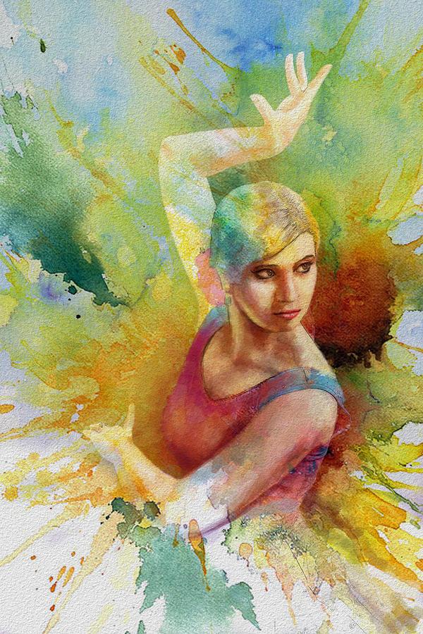 Ballet Dancer Painting - Ballet Dancer by Corporate Art Task Force