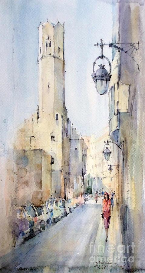 Barcelona Painting - Barcelona by Natalia Eremeyeva Duarte