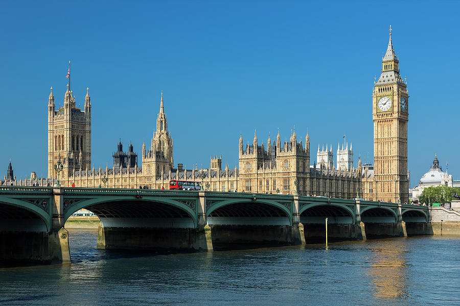 Big Ben And Britains Houses Of Photograph by Sylvain Sonnet