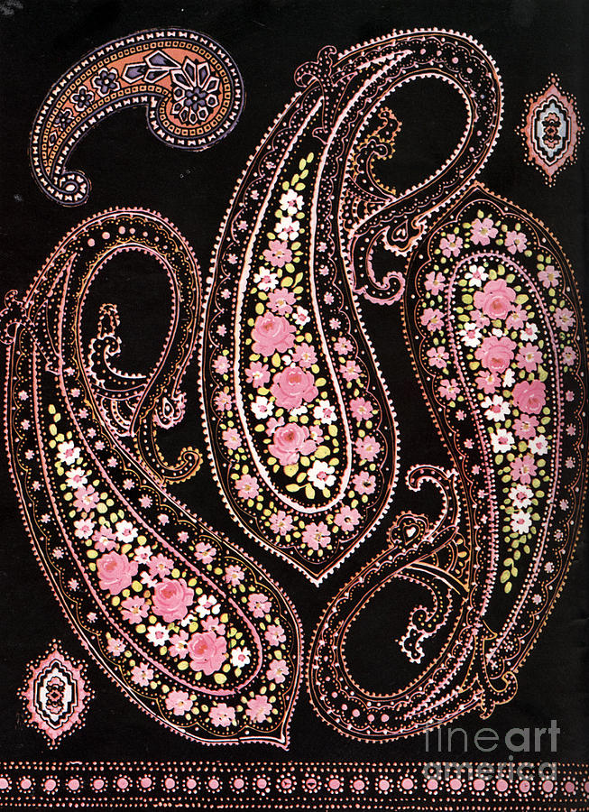 Black And White Persian Motifs Photos Used For Carpets And
