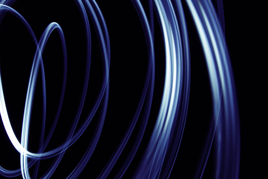 Background Photograph - Blue Lines  by Les Cunliffe