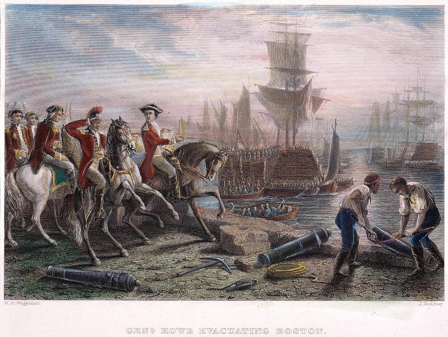 1776 Photograph - Boston: Evacuation, 1776 by Granger