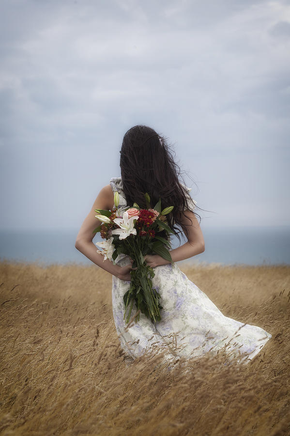 Girl Photograph - Bouquet Of Flowers by Joana Kruse