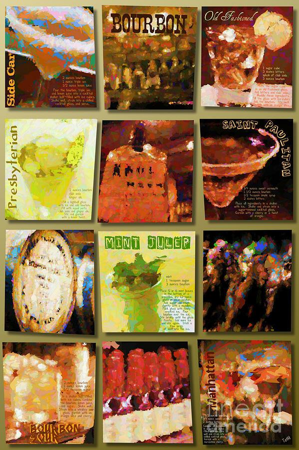 Bourbon Digital Art by Laura Toth