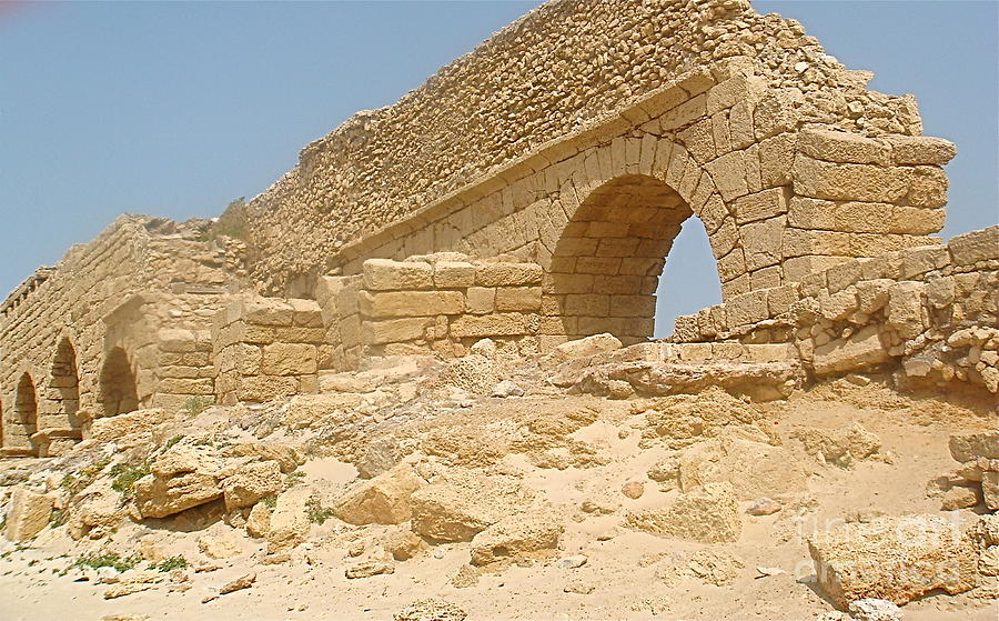Caesarea Photograph - Caesarea Israel Ancient Roman Remains by Robert Birkenes