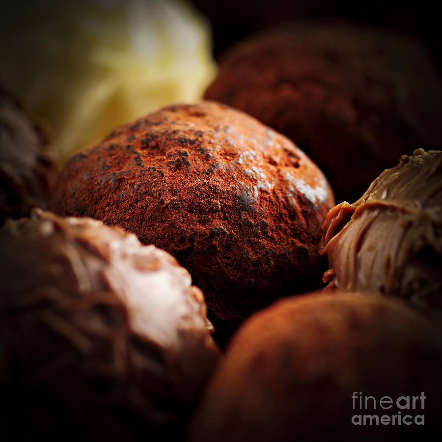 Chocolate Photograph - Chocolate Truffles by Elena Elisseeva