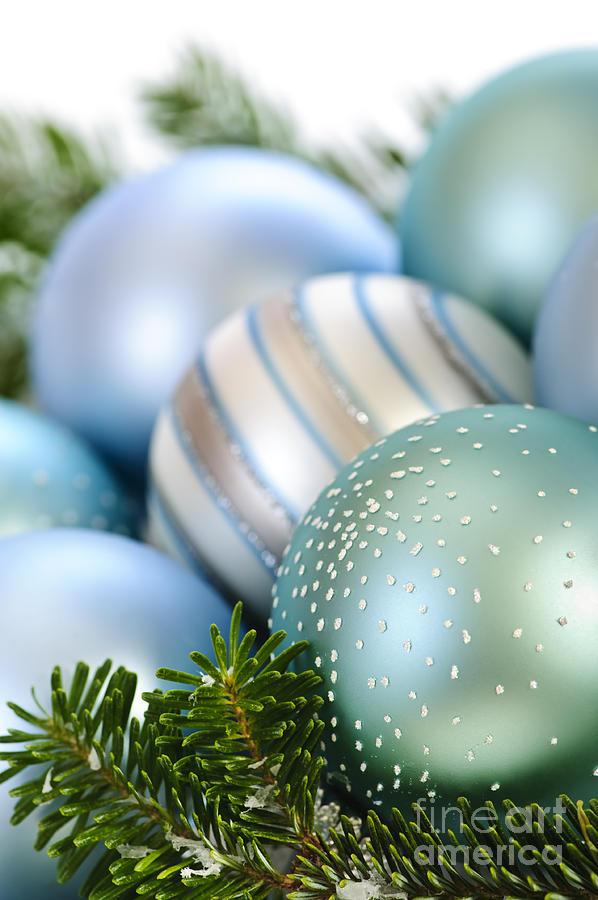 Christmas Photograph - Christmas Ornaments by Elena Elisseeva