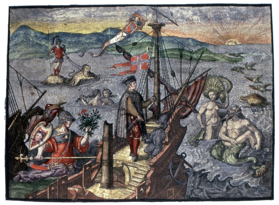 15th Century Painting - Christopher Columbus (1451-1506) by Granger