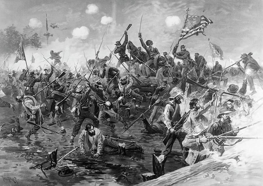 1864 Painting - Civil War Spotsylvania by Granger