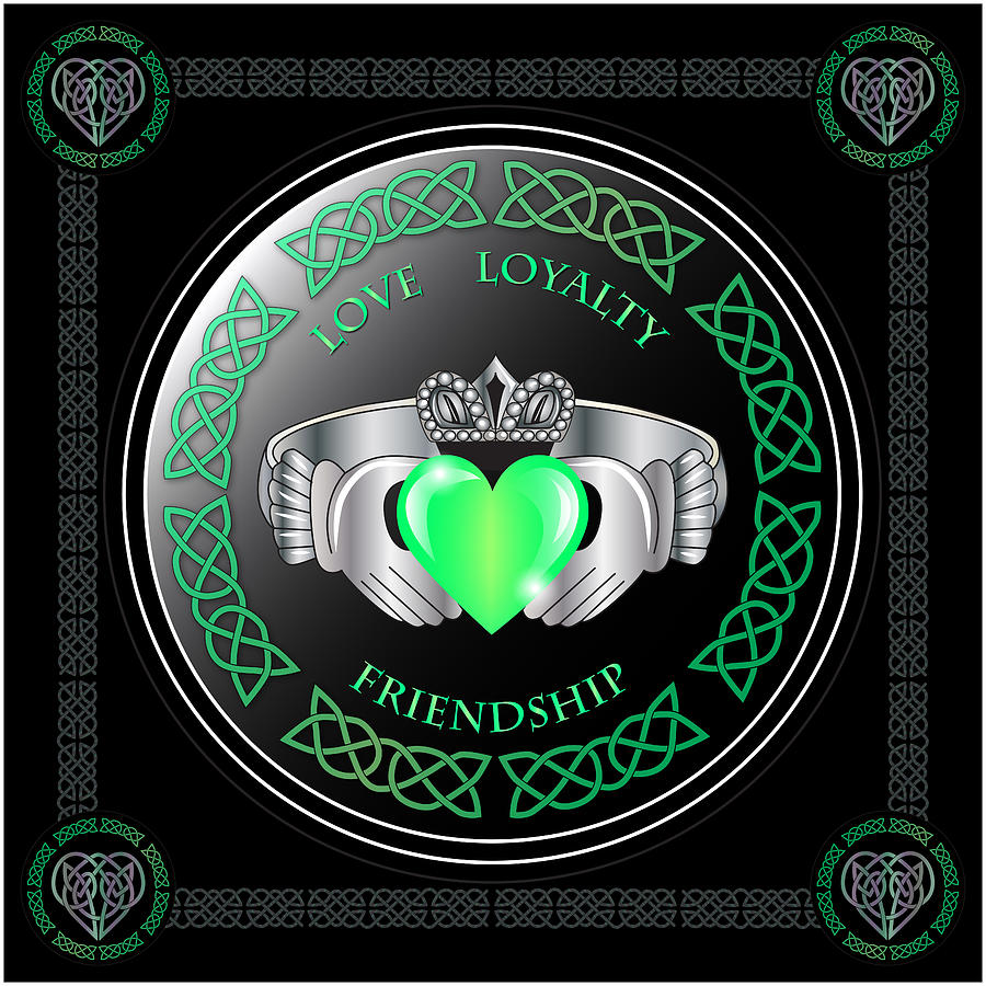 Claddagh ring digital art by ireland calling buycottarizona Choice Image