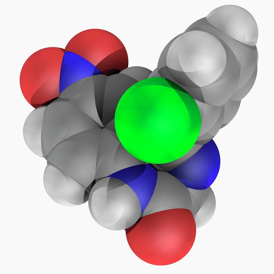 Artwork Photograph - Clonazepam Drug Molecule by Laguna Design/science Photo Library