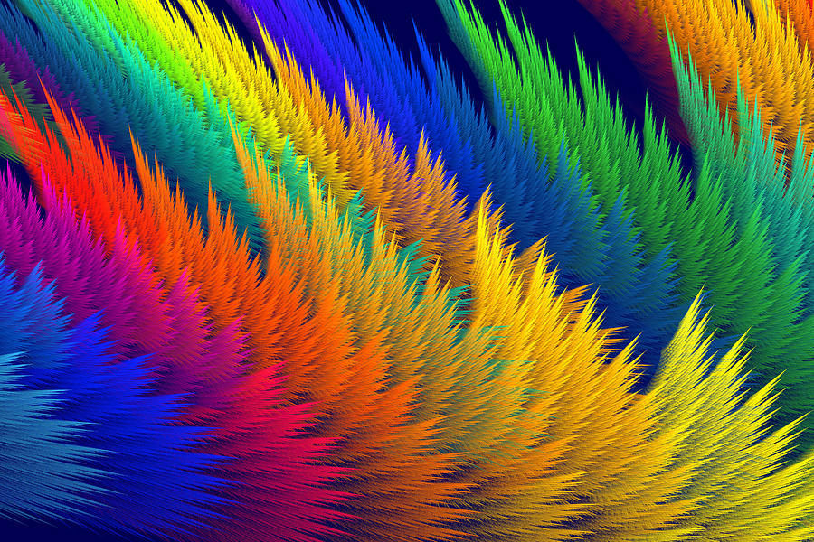 Translucent Photograph - Computer Generated Abstract Fractal Flame by Keith Webber Jr