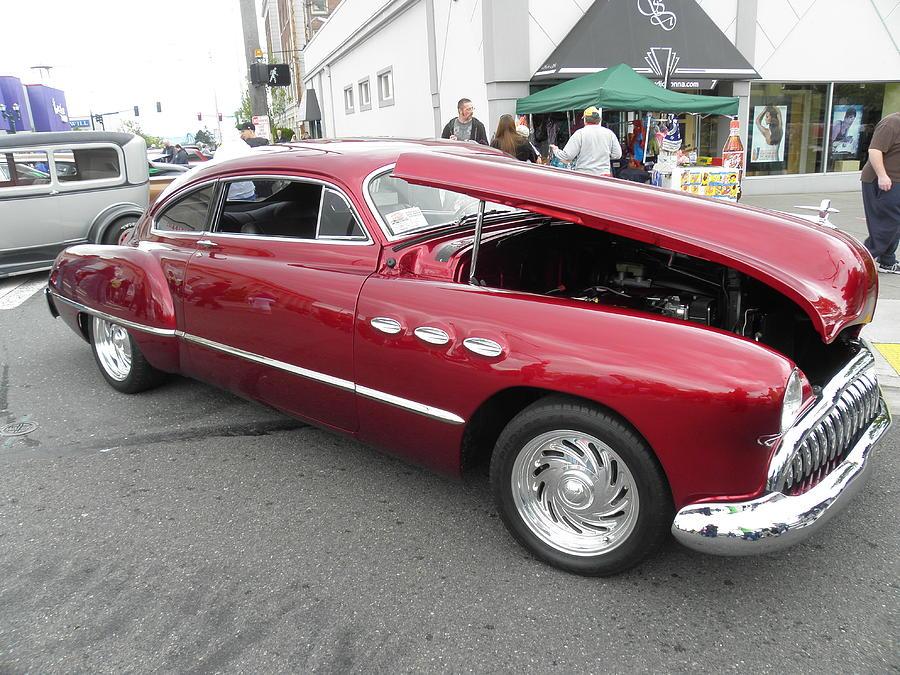 Crimson Car Photograph by Charles Vana