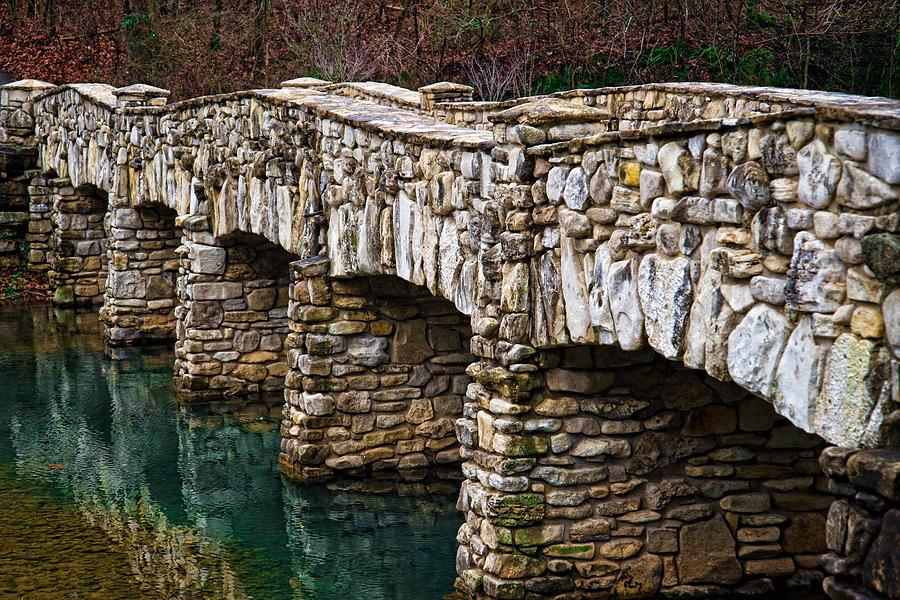 Stone Bridge Photograph - Dogwood Canyon Nature Park Near Branson Mo by Cindy Tiefenbrunn
