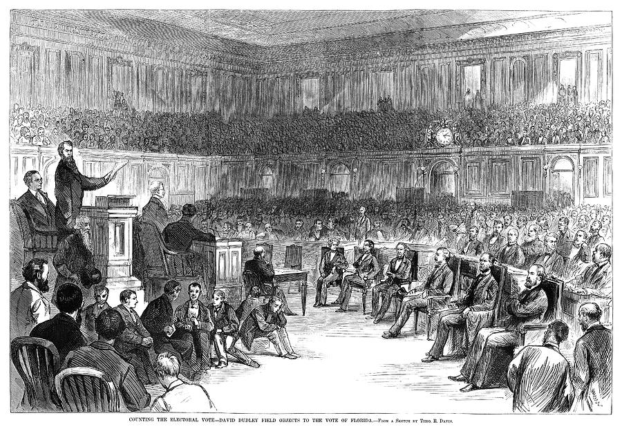 1876 Painting - Electoral Commission, 1877 by Granger