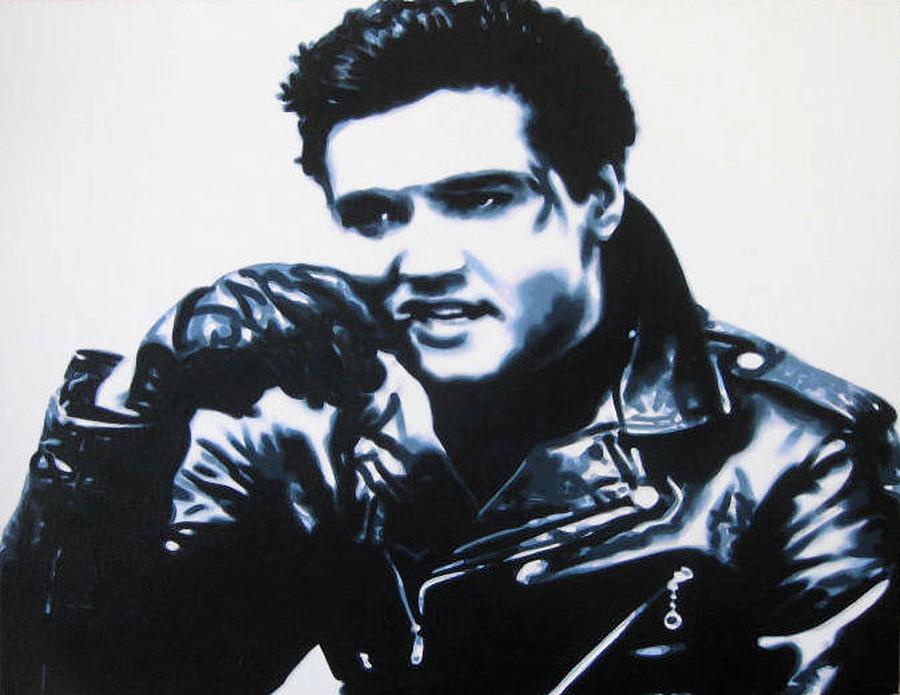Elvis Aaron Presley Painting - Elvis by Luis Ludzska