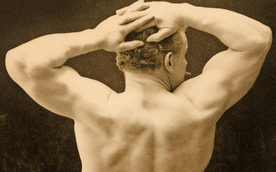 Male Photograph - Eugen Sandow by George Steckel