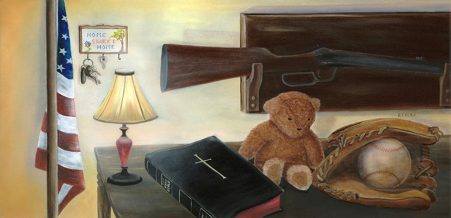 American Paintings Painting - Faith Of Our Fathers by RJ McNall