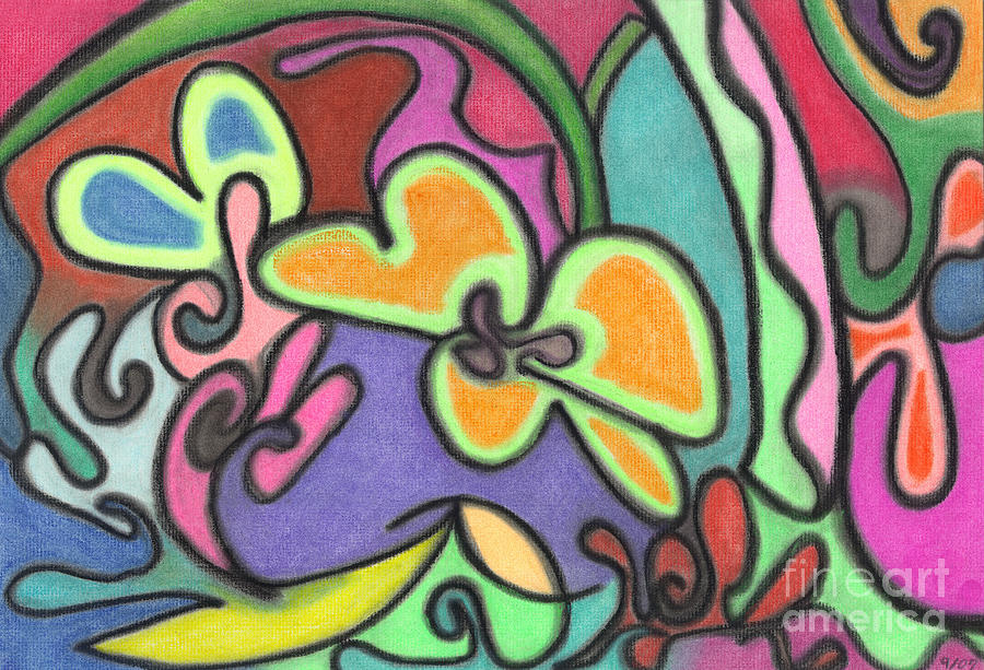 Pastel Pastel - Fluid Flowers by Christine Perry