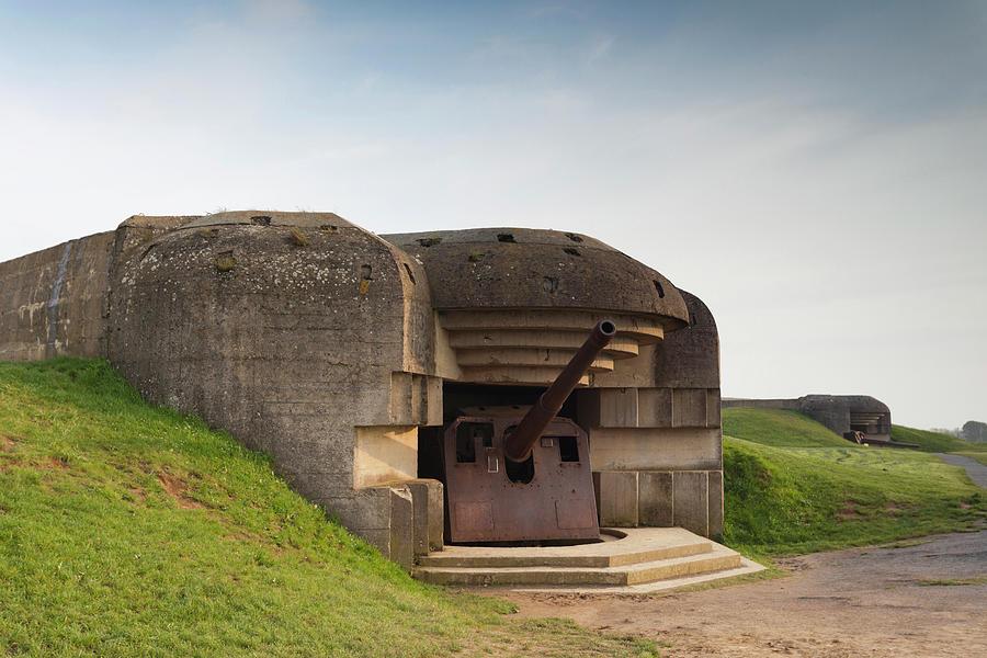 Artillery Photograph - France, Normandy, D-day Beaches Area by Walter Bibikow