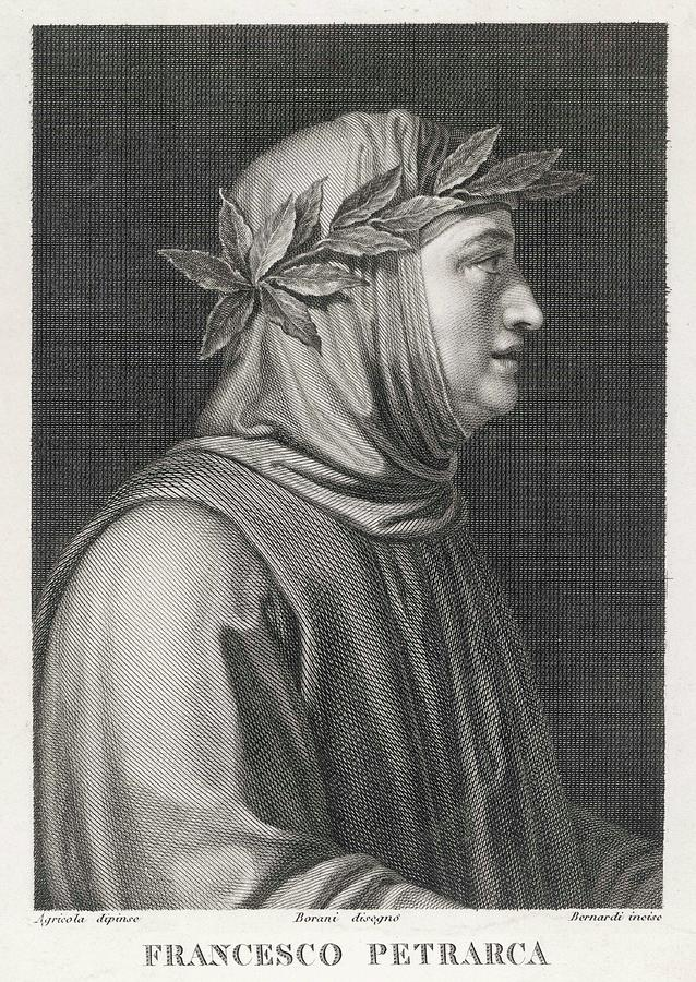 Petrarch Drawing - Francesco Petrarch  Italian Poet by Mary Evans Picture Library