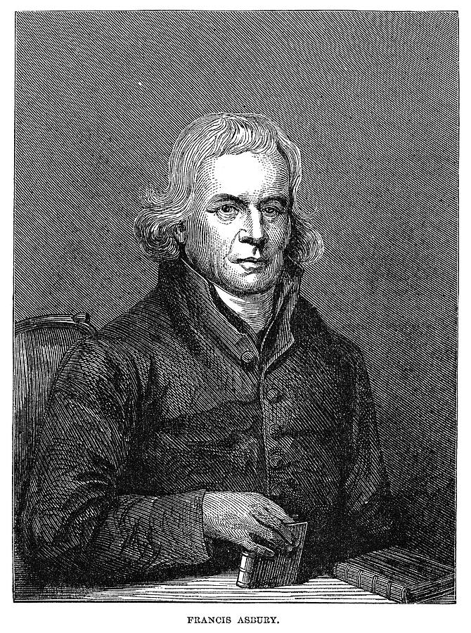 19th Century Painting - Francis Asbury (1745-1816) by Granger