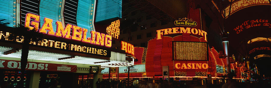 Color Image Photograph - Fremont Street Experience Las Vegas Nv by Panoramic Images