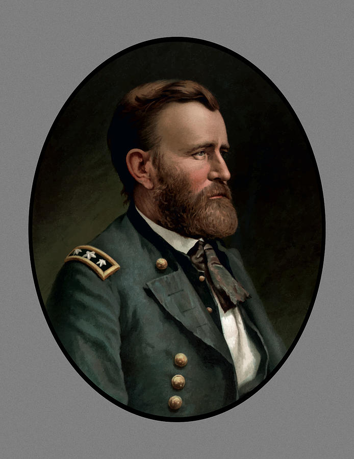 Civil War Painting - General Grant by War Is Hell Store