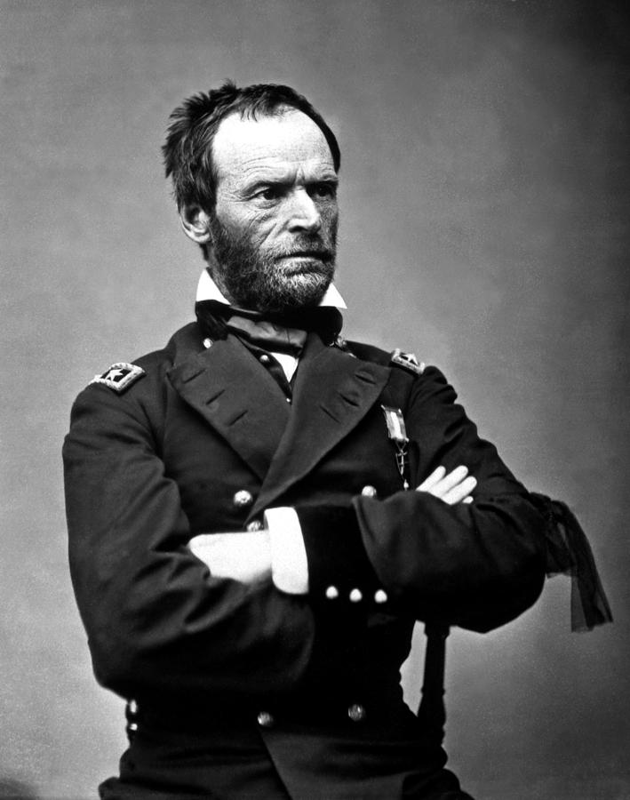 General Sherman Photograph - General William Tecumseh Sherman by War Is Hell Store