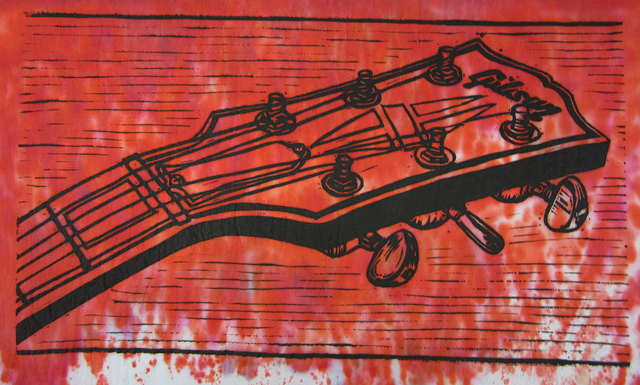 Les Paul Drawing - Gibson by William Cauthern