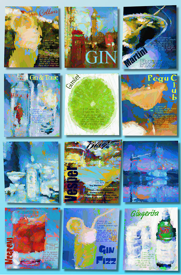 Gin Digital Art by Laura Toth