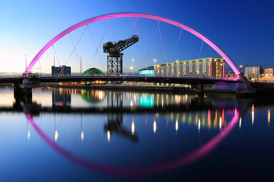 Clyde Arc Photograph - Glasgow Clyde Arc Bridge by Grant Glendinning