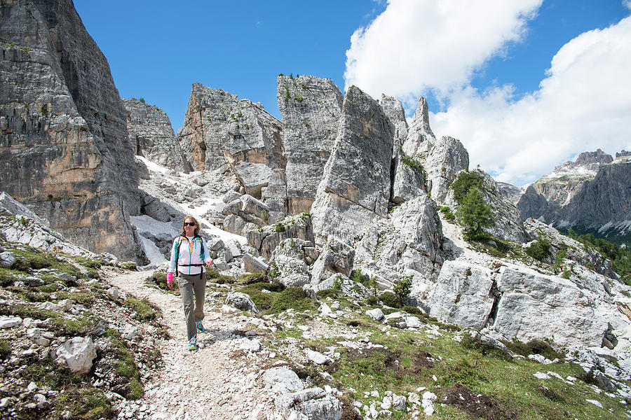 Italian Culture Photograph - Hikking At The Cinque Torri Area by Marcos Ferro