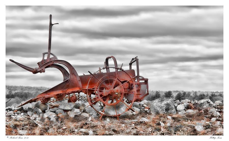 Antique Photograph - Hilltop Farm by Richard Bean