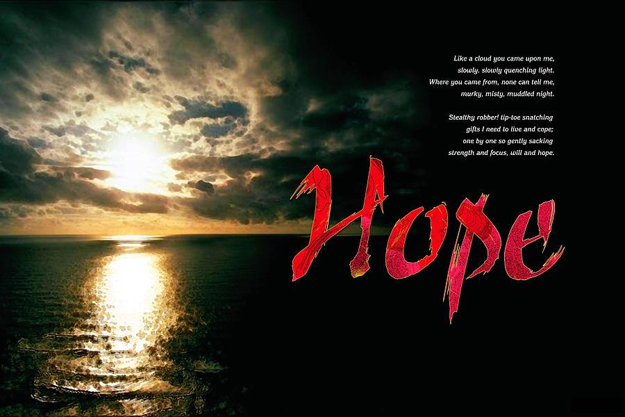 Bipolar Digital Art - Hope by Chuck Mountain