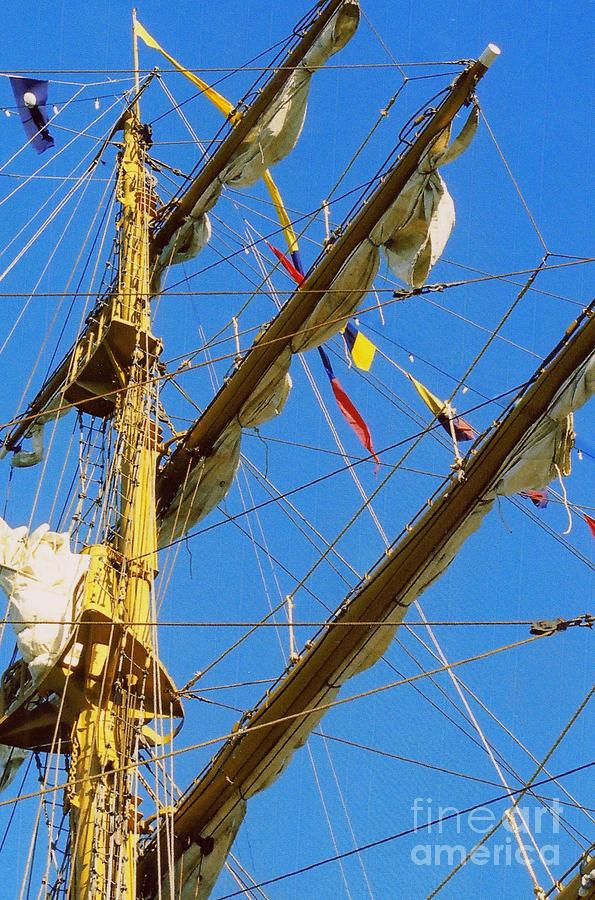 Tall Ship Photography Photograph - I Thought I Saw Three Sailing Ships Three Sailing Ships Early In The Morn N by Michael Hoard