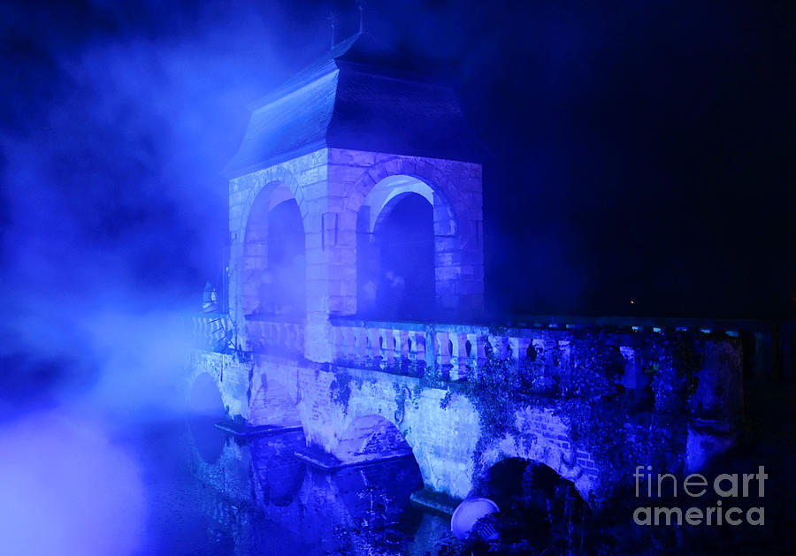 Blue Photograph - Illumina Light Show At Schloss Dyck Germany by David Davies