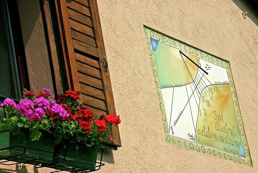 Building Photograph - Italian Sundial by Babak Tafreshi/science Photo Library