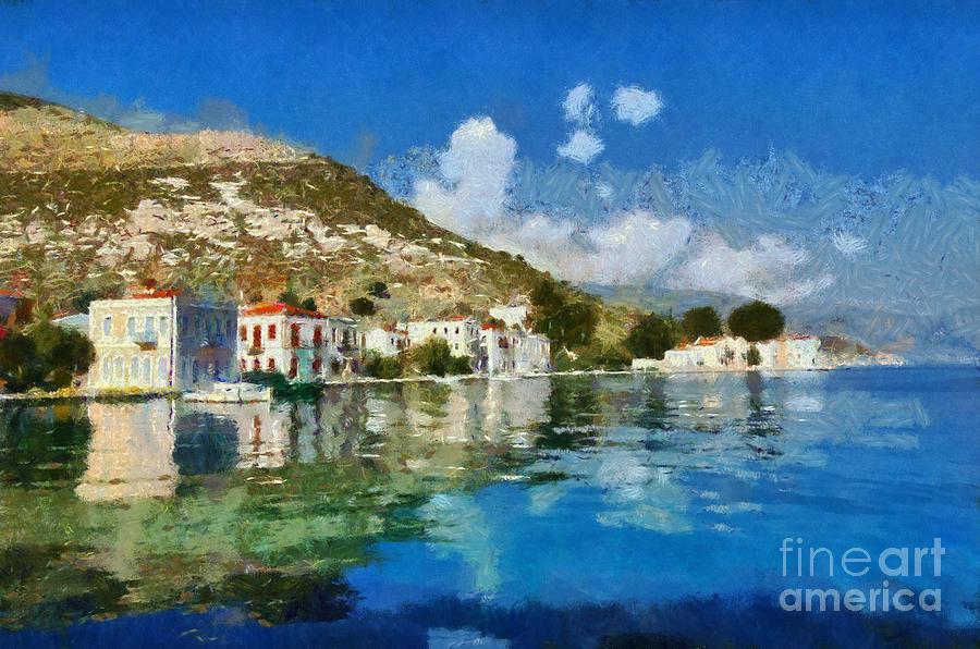 Kastellorizo Painting - Kastellorizo Island by George Atsametakis