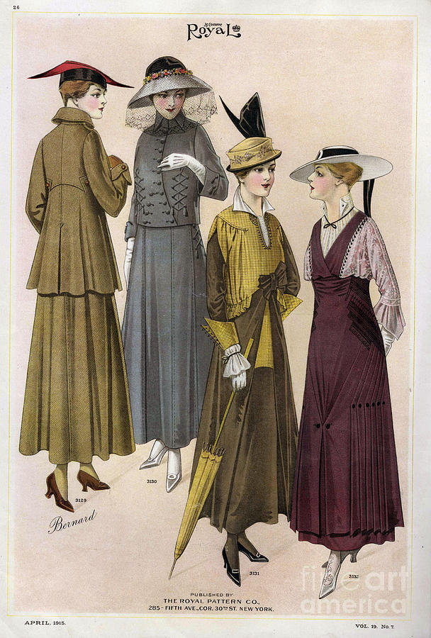 1910s Drawing - Le Costume Royal 1915 1910s Usa  Cc by The Advertising Archives