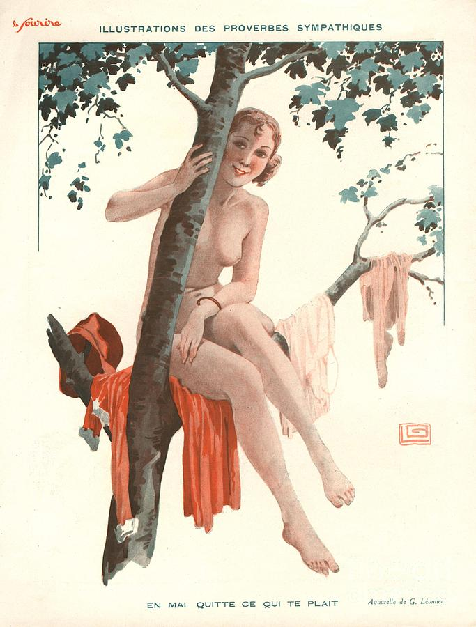 1920s Drawing - Le Sourire 1920s France Glamour Erotica by The Advertising Archives