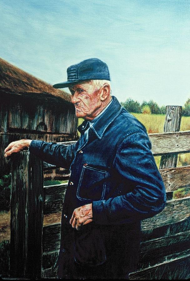 Portrait Painting - Lee Of Hartland by James Welch
