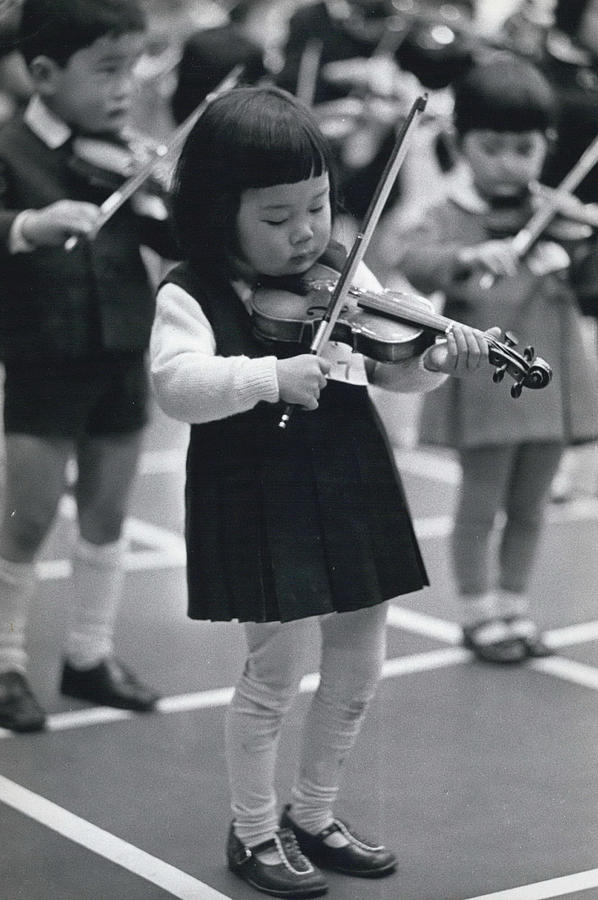 Retro Photograph - Little Fiddlers Make Big Music by Retro Images Archive