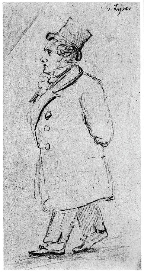 18th Century Drawing - Ludwig Van Beethoven (1770-1827) by Granger