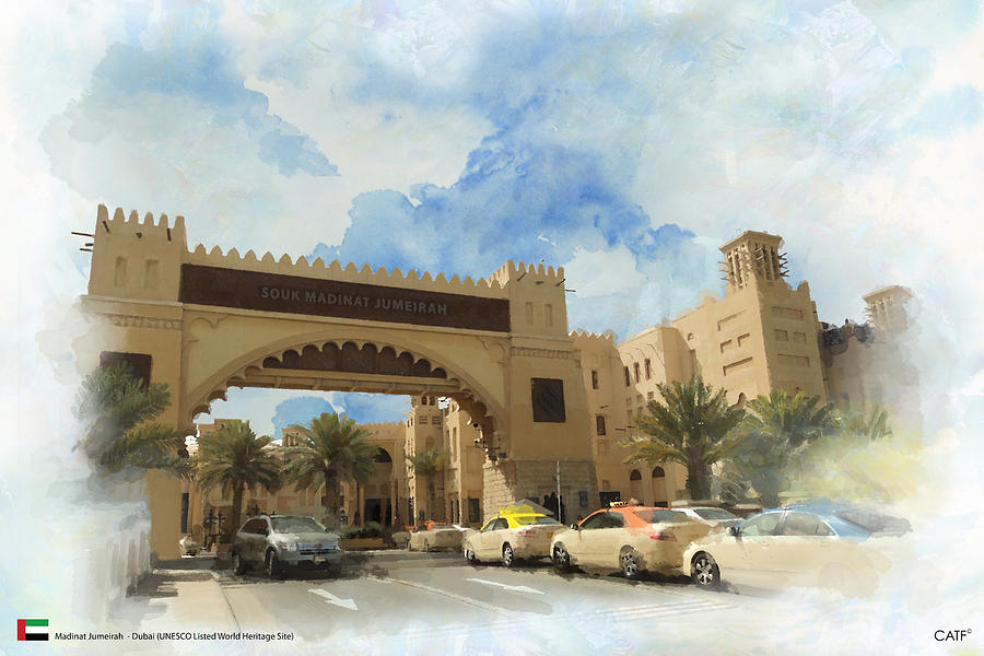 Hili Painting - Madinat Jumeirah by Catf
