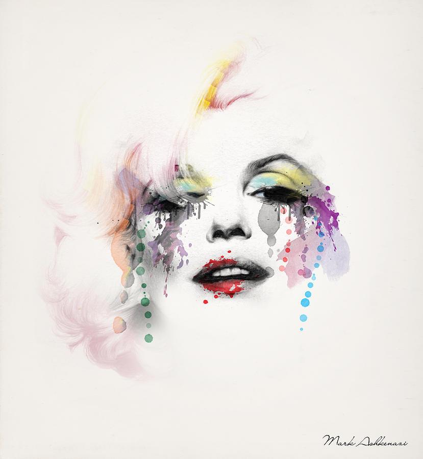 Marilyn Monroe Painting - Marilyn Monroe by Mark Ashkenazi